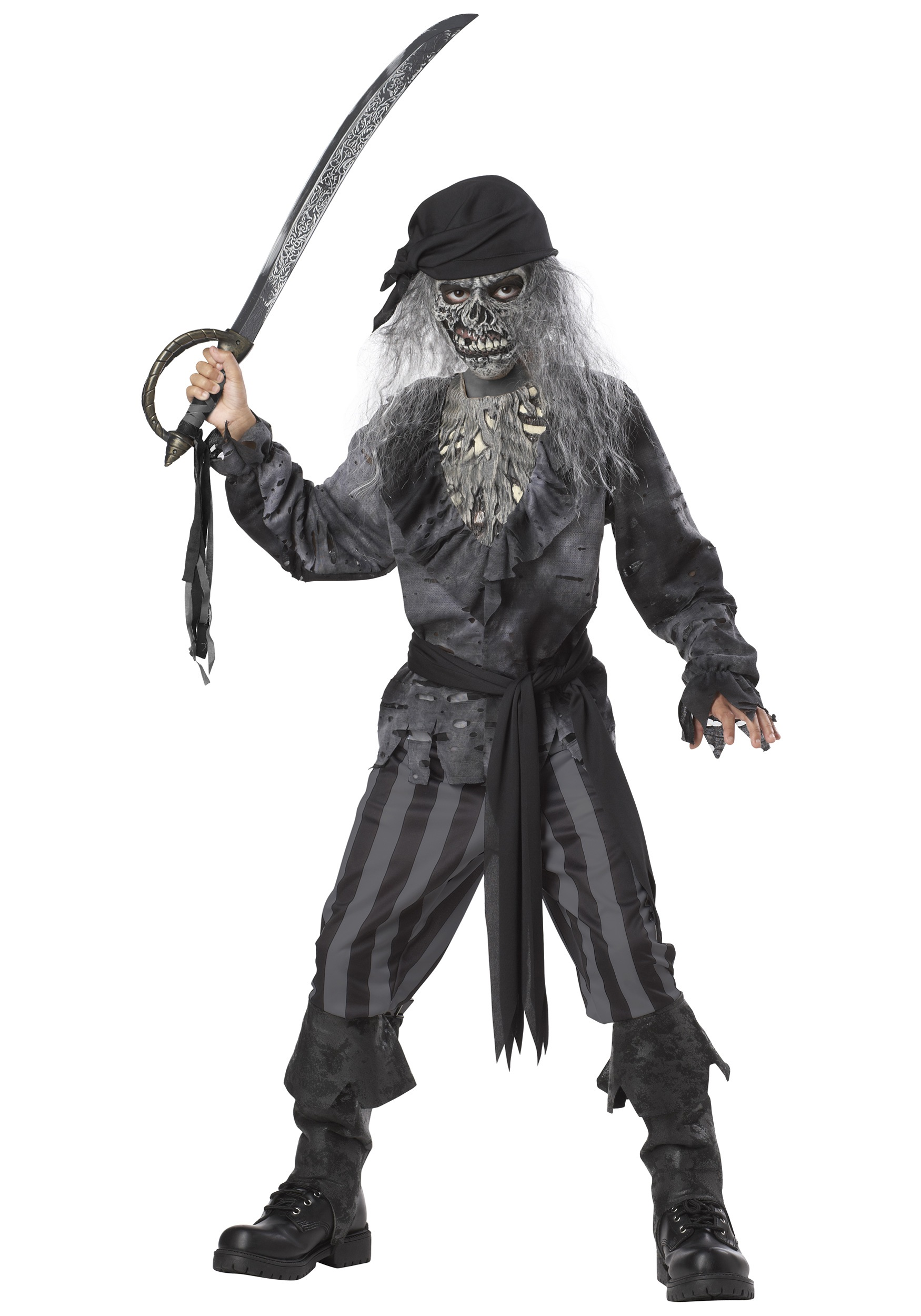 kids ghost ship pirate costume - halloween costumes