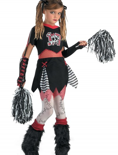 Kids Gothic Cheerleader Costume, halloween costume (Kids Gothic Cheerleader Costume)