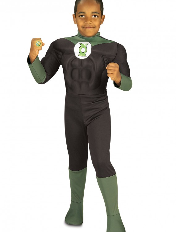 Kids Green Lantern Costume, halloween costume (Kids Green Lantern Costume)