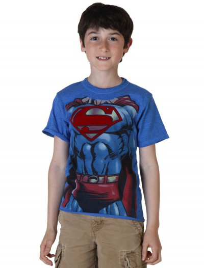 Kids I Am Superman Costume T-Shirt, halloween costume (Kids I Am Superman Costume T-Shirt)