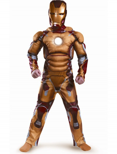 Kids Iron Man Mark 42 Muscle Light Up Costume, halloween costume (Kids Iron Man Mark 42 Muscle Light Up Costume)