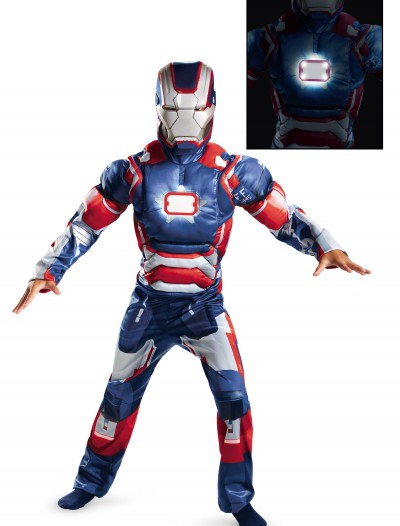 Kids Iron Patriot Muscle Light Up Costume, halloween costume (Kids Iron Patriot Muscle Light Up Costume)