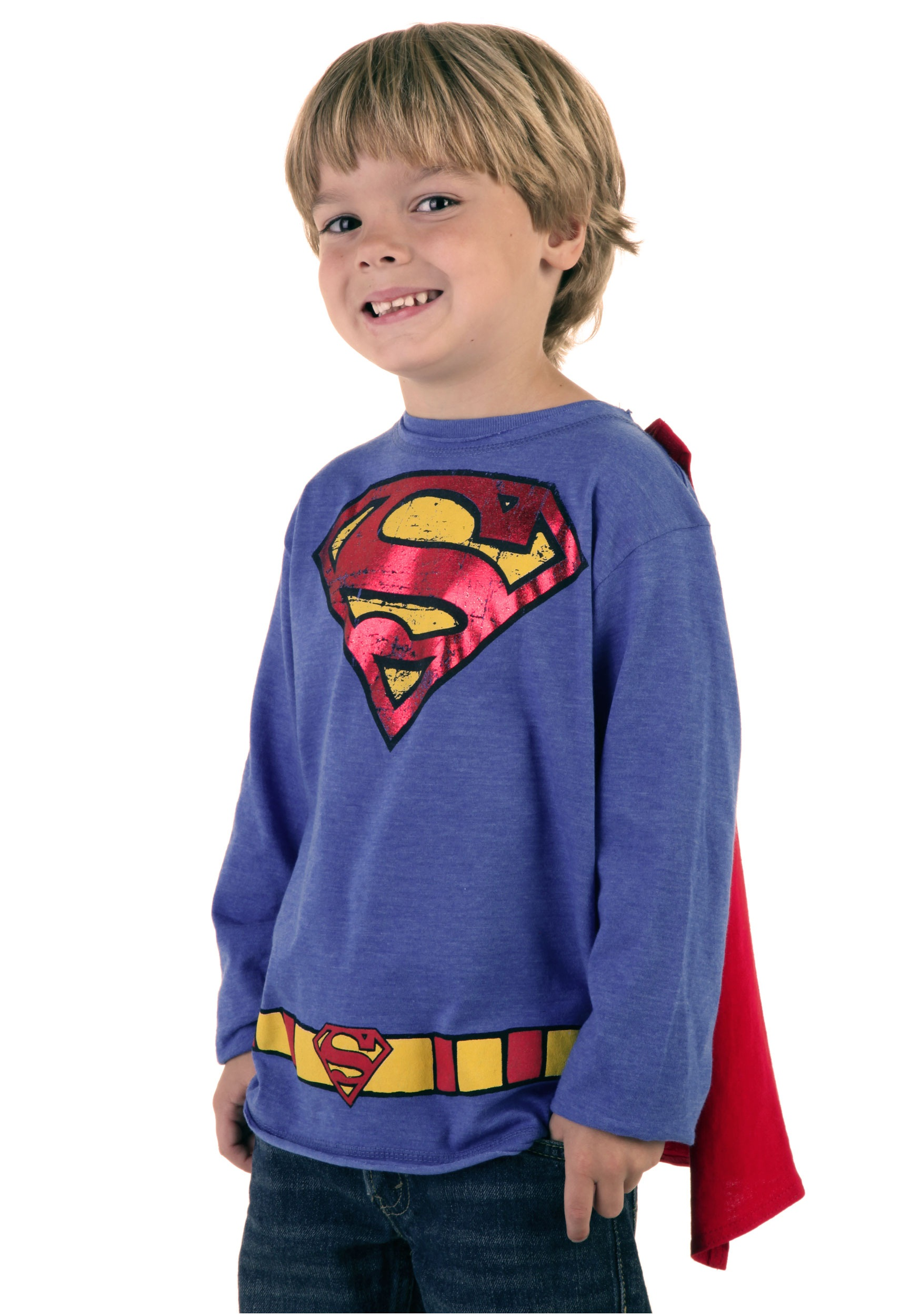 Kids krypton hero royal blue superman t shirt halloween for Costume t shirts online