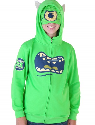 Kids Monsters University Mike Wazowski Costume Hoodie, halloween costume (Kids Monsters University Mike Wazowski Costume Hoodie)