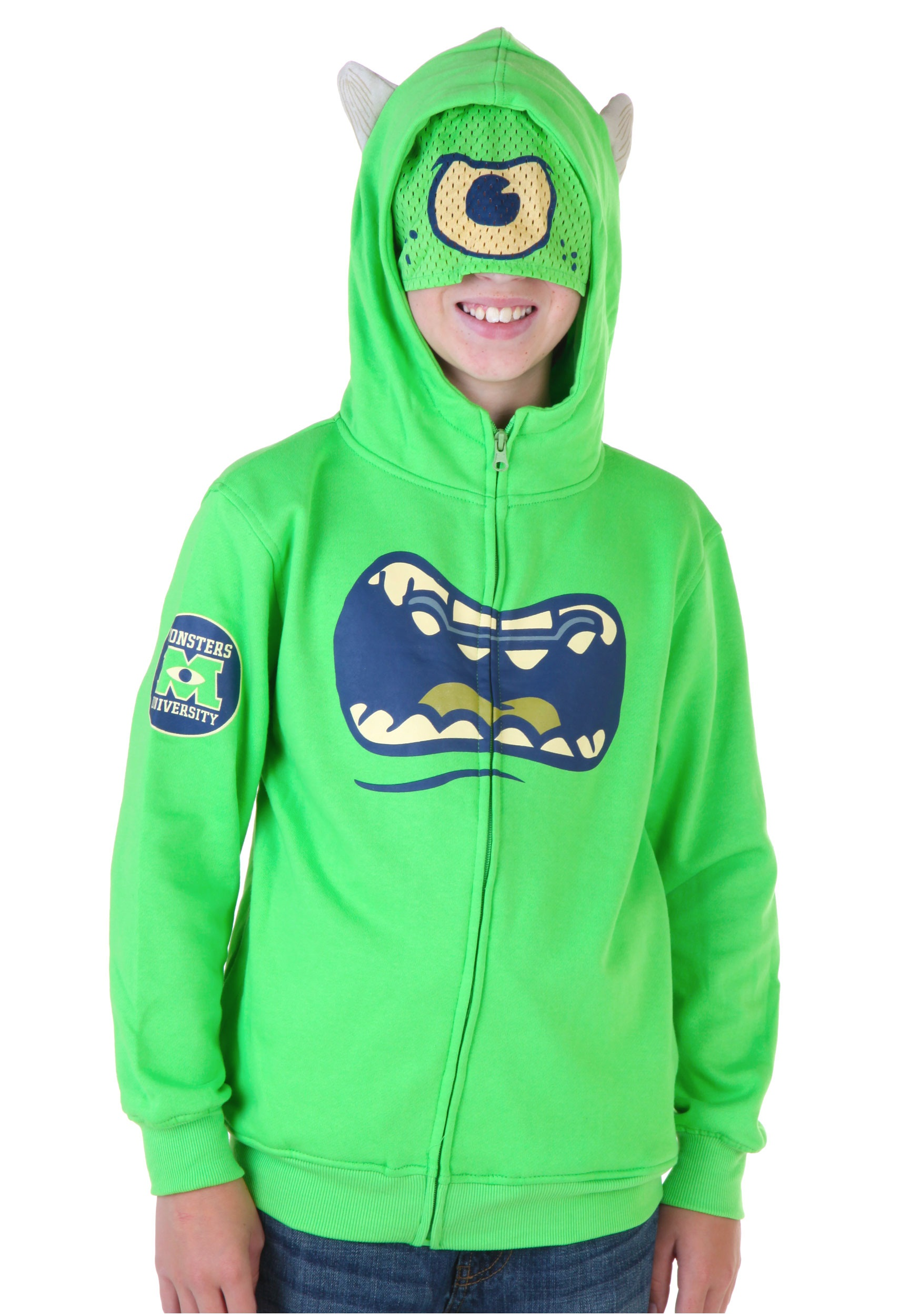 4bfd7de8eda0 Kids Monsters University Mike Wazowski Costume Hoodie - Halloween Costumes