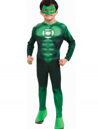 Kids Muscle Chest Green Lantern Costume, halloween costume (Kids Muscle Chest Green Lantern Costume)