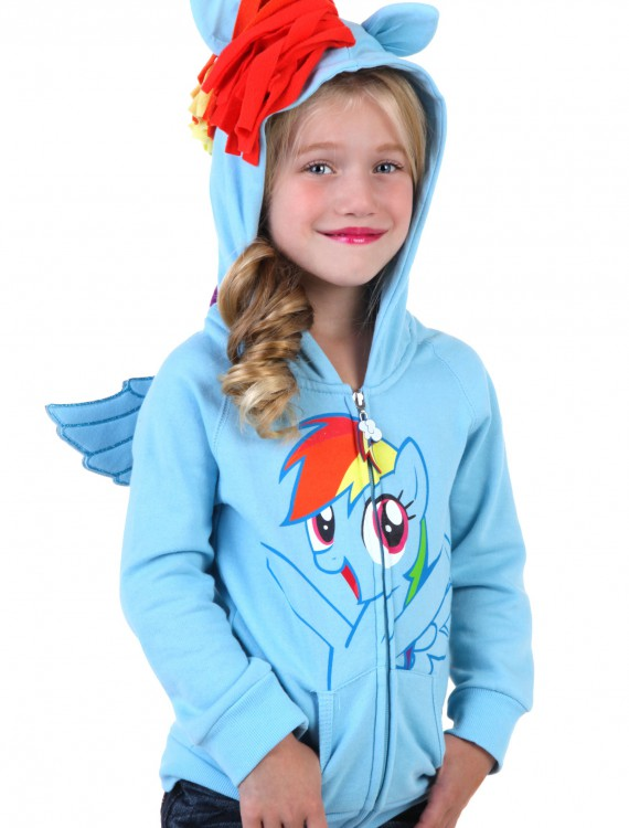 Kids My Little Pony Rainbow Joy Hoodie, halloween costume (Kids My Little Pony Rainbow Joy Hoodie)