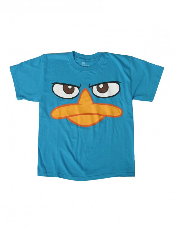 Kids Phineas and Ferb Perry Face Costume T-Shirt, halloween costume (Kids Phineas and Ferb Perry Face Costume T-Shirt)