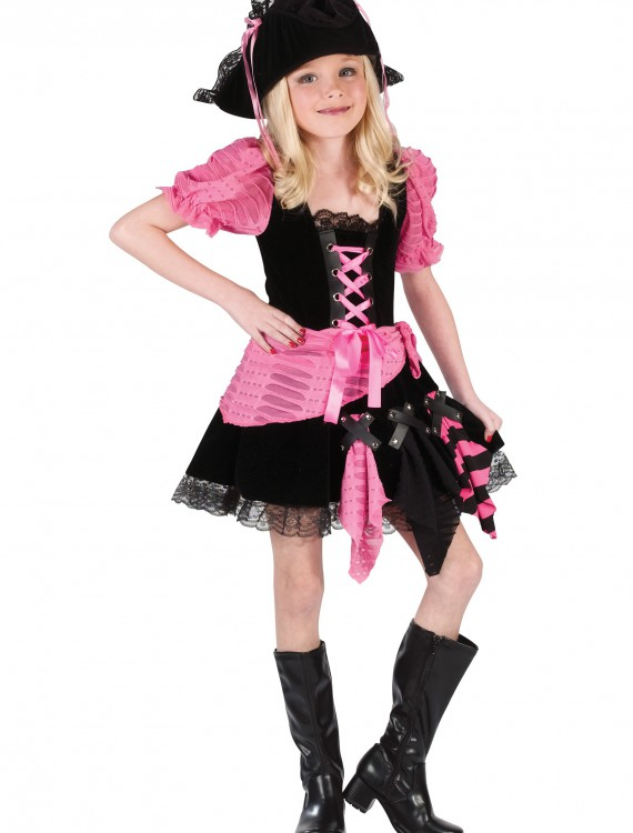 Kid's Pink Pirate Costume, halloween costume (Kid's Pink Pirate Costume)