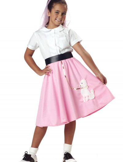 Kids Pink Poodle Skirt, halloween costume (Kids Pink Poodle Skirt)