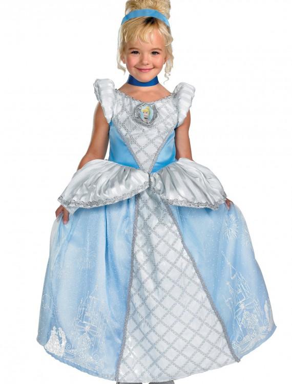 Kids Prestige Cinderella Costume, halloween costume (Kids Prestige Cinderella Costume)