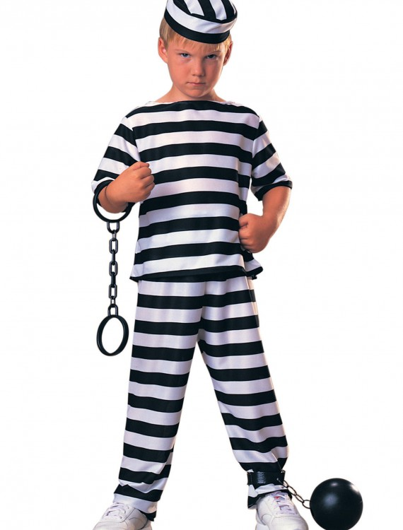 Kids Prisoner Costume, halloween costume (Kids Prisoner Costume)
