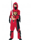 Kids Red Ninja Costume, halloween costume (Kids Red Ninja Costume)