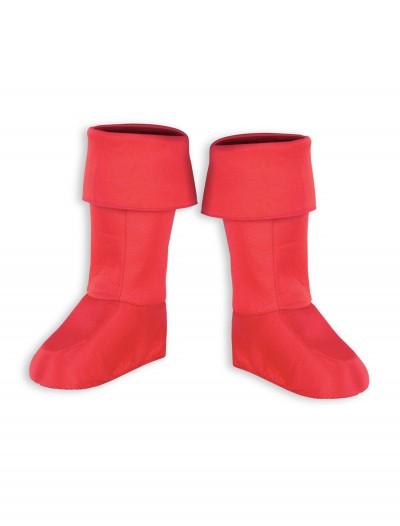 Kids Red Superhero Boot Covers, halloween costume (Kids Red Superhero Boot Covers)