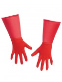 Kids Red Superhero Gloves, halloween costume (Kids Red Superhero Gloves)