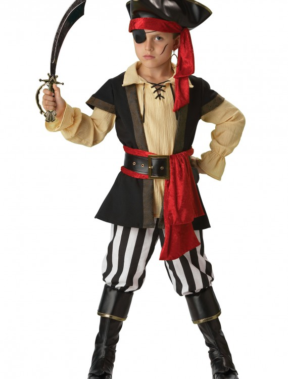 Kids Scoundrel Pirate Costume, halloween costume (Kids Scoundrel Pirate Costume)