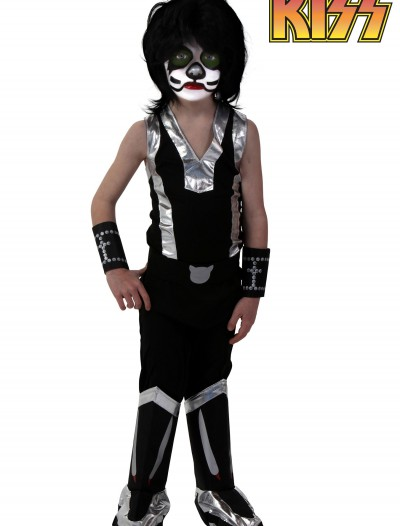Kids Screenprint KISS Catman Costume, halloween costume (Kids Screenprint KISS Catman Costume)