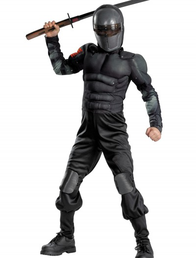 Kids Snake Eyes Muscle Costume, halloween costume (Kids Snake Eyes Muscle Costume)