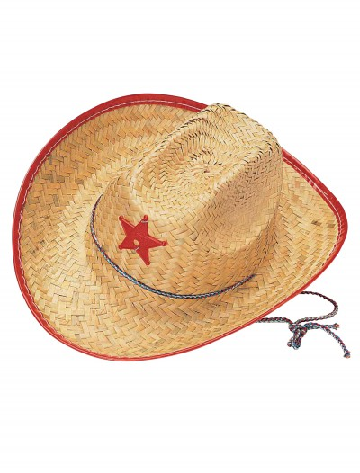 Kids Straw Cowboy Hat, halloween costume (Kids Straw Cowboy Hat)