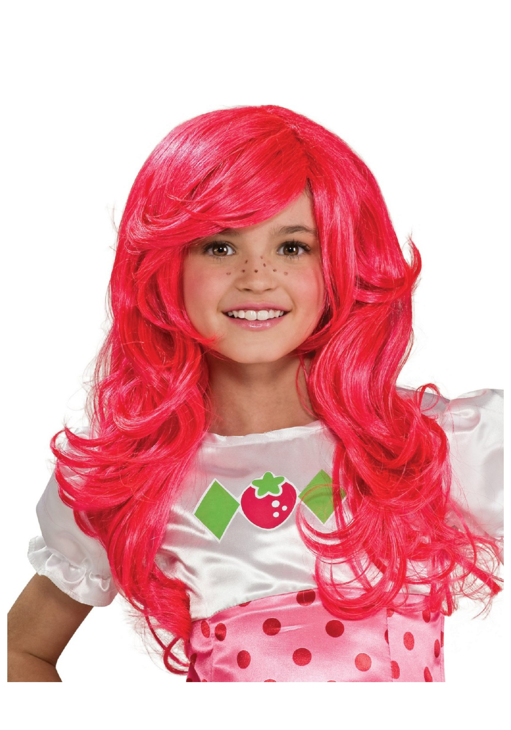kids strawberry shortcake wig