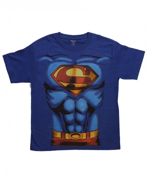 Boys Superman Costume T-Shirt, halloween costume (Boys Superman Costume T-Shirt)
