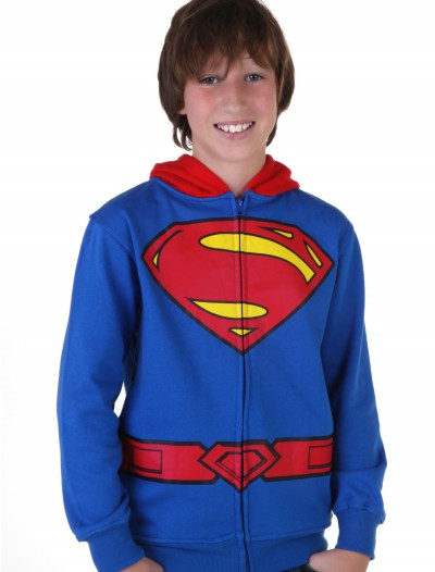 Kids Superman Logo Costume Hoodie, halloween costume (Kids Superman Logo Costume Hoodie)