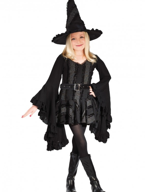 Girls Black Witch Costume, halloween costume (Girls Black Witch Costume)