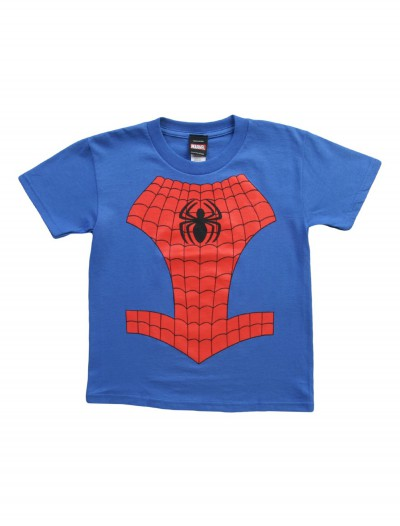 Kids Youth Spider-Man Costume TShirt, halloween costume (Kids Youth Spider-Man Costume TShirt)
