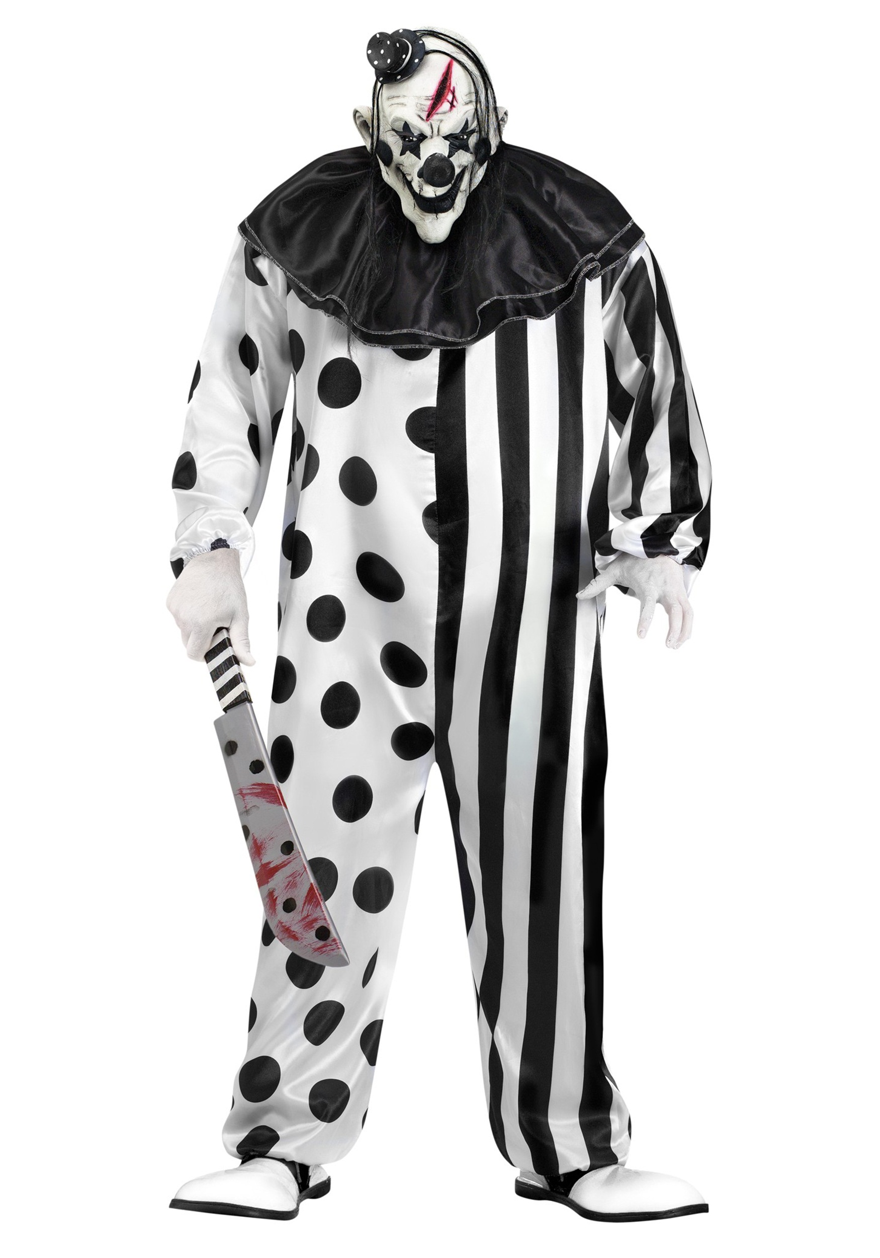 Killer Clown Halloween Costumes For Girls.Killer Clown Plus Size Costume