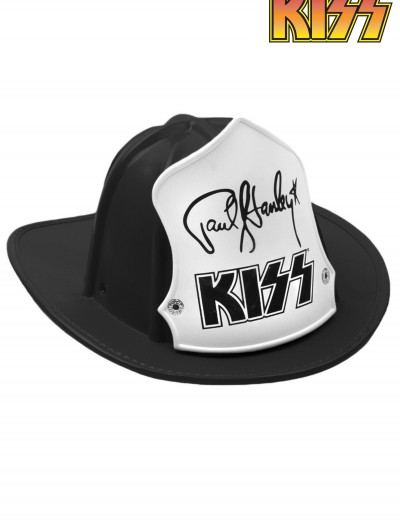 KISS Black Paul Stanley Firehouse Fire Hat, halloween costume (KISS Black Paul Stanley Firehouse Fire Hat)
