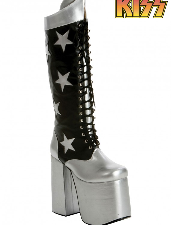 KISS Rock the Nation Starchild Boots, halloween costume (KISS Rock the Nation Starchild Boots)
