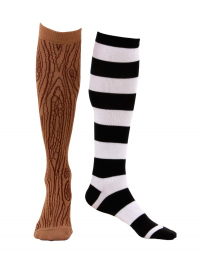 Knee-High Mismatched Pirate Socks, halloween costume (Knee-High Mismatched Pirate Socks)