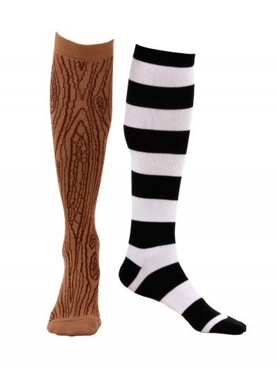 Knee-High Mismatched Pirate Socks, halloween costume (Knee-High Mismatched Pirate Socks)