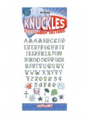 Knuckle Alphabet Temporary Tattoos, halloween costume (Knuckle Alphabet Temporary Tattoos)
