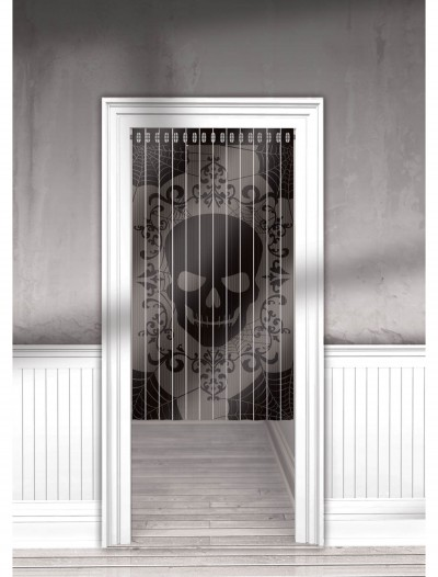 Lace Mesh Skull Curtain, halloween costume (Lace Mesh Skull Curtain)