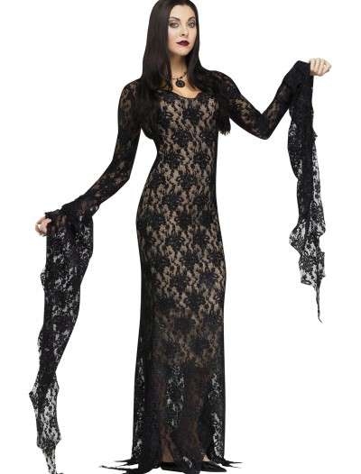 Lace Morticia Adult Costume, halloween costume (Lace Morticia Adult Costume)