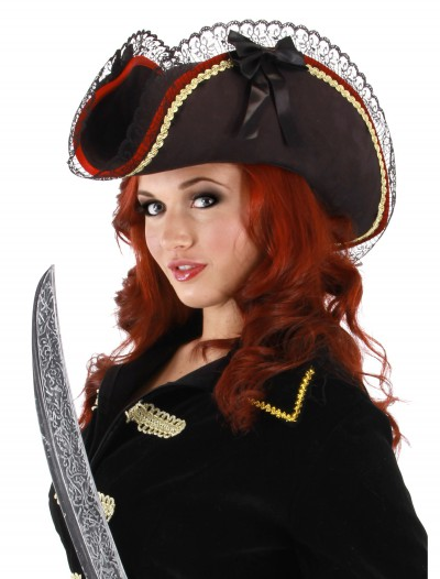 Lady Buccaneer Black Hat, halloween costume (Lady Buccaneer Black Hat)