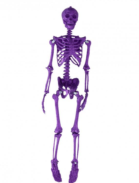 35.5''  Purple Glitter Skeleton, halloween costume (35.5''  Purple Glitter Skeleton)