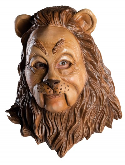 Latex Cowardly Lion Mask, halloween costume (Latex Cowardly Lion Mask)