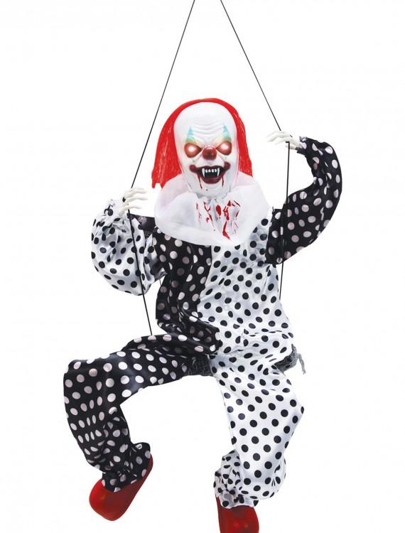 Leg Kicking Clown on Swing, halloween costume (Leg Kicking Clown on Swing)