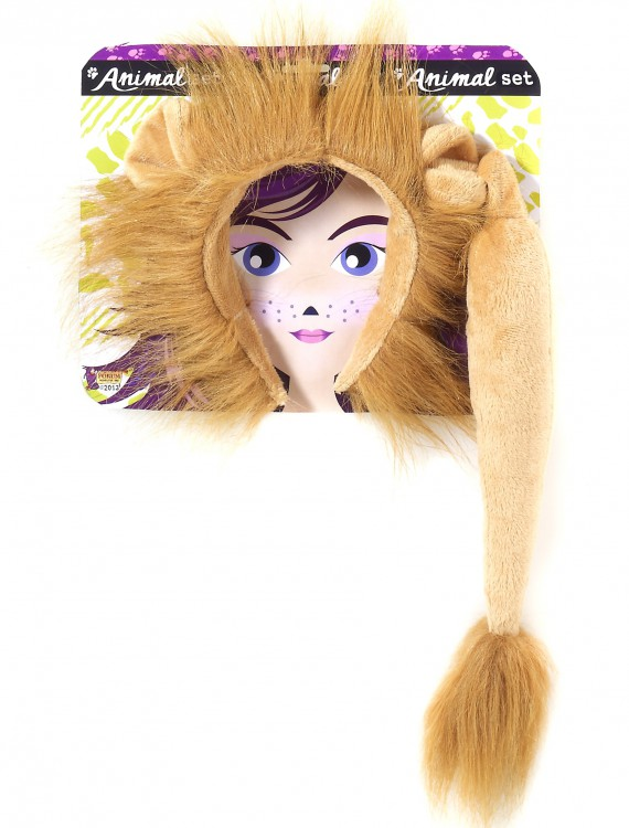 Lion Ears and Tail Kit, halloween costume (Lion Ears and Tail Kit)