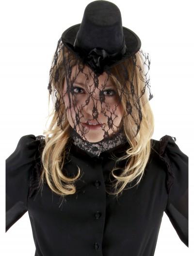Victorian Small Black Top Hat, halloween costume (Victorian Small Black Top Hat)