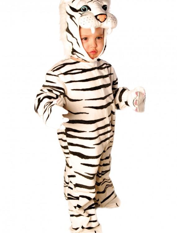 Little White Tiger Costume, halloween costume (Little White Tiger Costume)