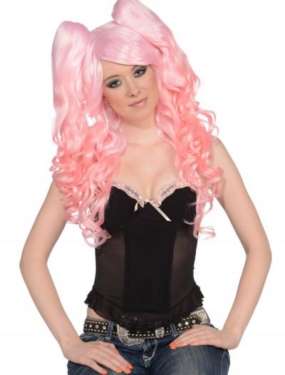 Long Light Pink 3 Piece Wig, halloween costume (Long Light Pink 3 Piece Wig)