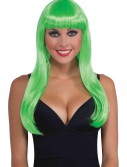 Long Neon Green Wig, halloween costume (Long Neon Green Wig)