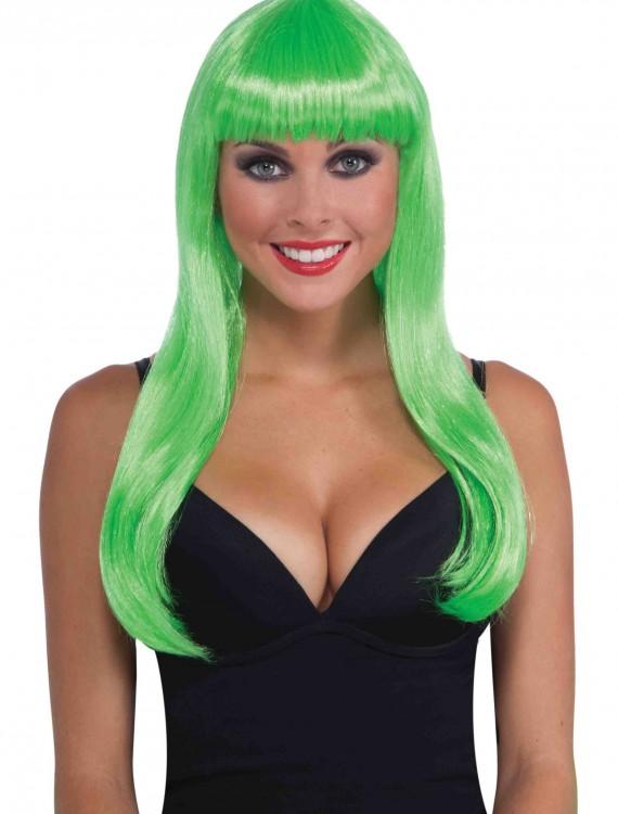 Long Neon Green Wig, halloween costume (Long Neon Green Wig)
