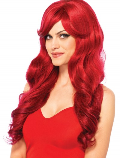Long Wavy Red Wig, halloween costume (Long Wavy Red Wig)