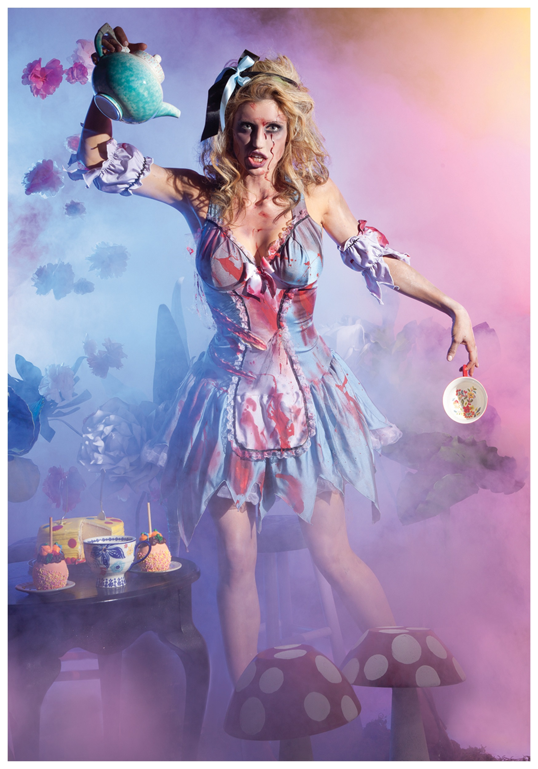 looking glass zombie alice costume - halloween costumes
