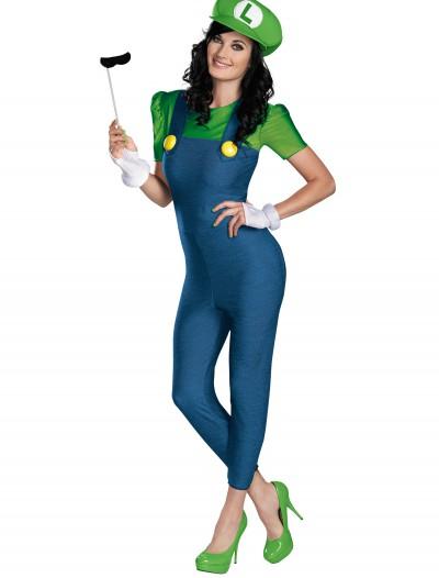 Women's Deluxe Luigi Costume, halloween costume (Women's Deluxe Luigi Costume)