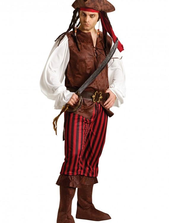 Male Caribbean Pirate Costume, halloween costume (Male Caribbean Pirate Costume)